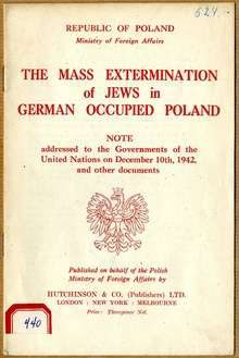 The Mass Extermination of Jews in German Occupied Poland. Witold Pilecki.