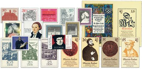 DDR/BRD Martin Luther, postzegels